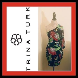 Trina Turk One Shoulder Dress